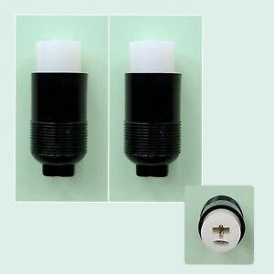 2x 2 Pin DIN Line Socket Female Connectors