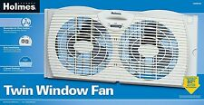 Twin Dual Blades Whole Room Window Fan Holmes