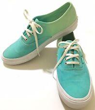 Vans Lace Up Skate Shoes Aqua Blue & Mint Green Women's Size 10.5 Men's Size 9