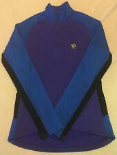 Womens Sz 10 Blue Purple Black Pearl Izumi Technical Wear Ls Cycling Shirt Top