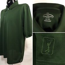 Champions Tour Mens Polo Shirt Xl Green Golf Performance Wicking Polyester S/S
