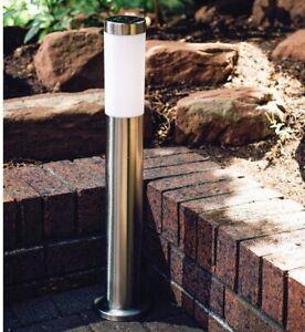 Solar Lamp Post Bollard Solar LED Path Lights Outdoor Garden Waterproof Lights