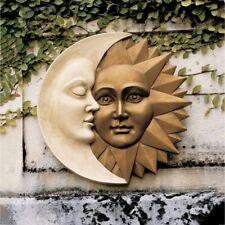 Sun and Moon Wall Sculpture Celestial Icons of Astronomy Garden Decor Outdo H3n8