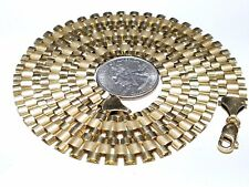 """10K REAL GOLD ROLEX YELLOW Chain 12mm 62.8g 30""""  (Ask 18 20 24 26 28 30 & + )"""