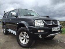 2006/56 MITSUBISHI L200 2.5 TD 113 LWB 4WD TROJAN CrewCab BLK Leather Long MoT