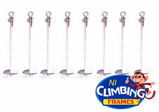 8 x Ground Anchor 500mm Galvanised Heavy Duty Swings Trampolines Climbing Frames