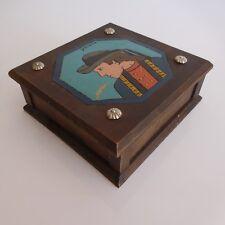 Coffret bijoux bois YANN fait main vintage art déco design XXe PN France N2824