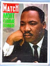 PARIS MATCH 992 Martin Luther King Legros Braun Dubcek Johnson Mathieu
