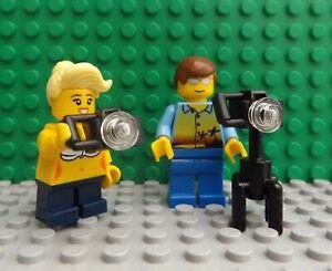 LEGO Brand New Mini Figure Man Lady Holiday City Makers Camera Man Photographer