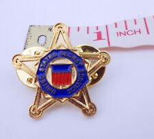 "FIVE-POINTED USSS PIN UNITED STATES SECRET SERVICE LAPEL HAT PIN MINI 1""-0390"