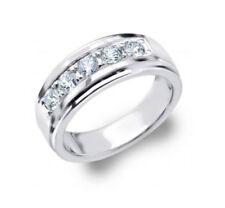 Natural Diamond Wedding Engagement Band Ring 14k White Gold