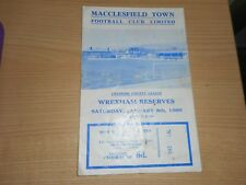 MACCLESFIELD TOWN  v  WREXHAM  reserves  1965/6  CHESHIRE COUNTY LEAGUE ~ JAN 8