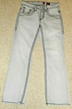 Rock Revival ***SIZE 29***Amy Bootcut Jeans Distressed Womens GREY
