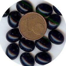 103B *** 30 CABOCHONS ACRYLIQUE FOND PLAT NOIR 10X8mm