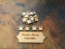 x50 20mm crown shapes, craft embellishments scrapbooking