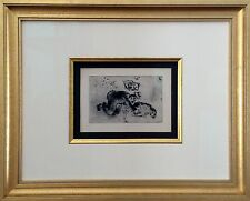 Marc Chagall - L'avarice / Greed III 1926 - Original Etching w/ drypoint, framed