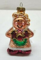 Vintage Christmas Tree Ornament Glass Bauble Decoration Gingerbread Woman Cookie