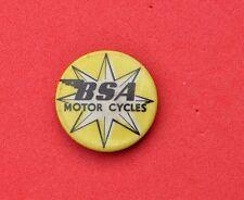 Vintage BSA Motorcycles tin pin badge for motor Biker jacket lapel rare 1950s ?