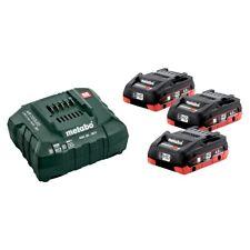 Metabo Jeu de Base Lot 3 Li-Hd Batterie 18 V 4.0 Ah + Chargeur Asc 30-36