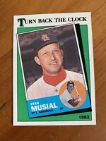 Stan Musial 1988 Topps #665 Turn Back The Clock Baseball Card St Louis Cardinals