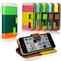 Wallet Cover Apple iPhone 5c Case Magnetic Flip PU Leather Holder Shell Bag