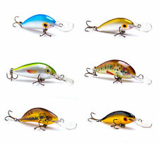 6 Ugly Duckling ultra light Crank Baits Balsa Wood Panfish/Trout/Bass New in Box
