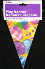 Easter Eggs Bunting Flag Banner Garland party Decoration 9 feet long FREE P&P