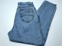 Womens VTG Chic Blue Jeans Denim High Rise Tapered Leg Size 12(28x28)Made in USA