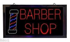 "Barber Shop Lighted window sign 19"" x 9-7/8"" 4-1/2 foot cord Led Light #SC9022"