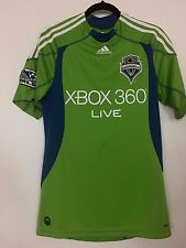 SEATTLE SOUNDERS ADIDAS S SMALL CLIMA COOL JERSEY XBOX 360 SPACE NEEDLE  SOCCER