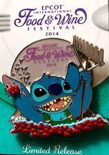 Disney Epcot International Food & Wine Festival Stitch Limited Release pin