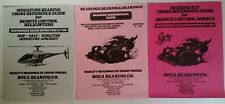 Rare 80's Rc Ad Lot Brochures Info Vhtf Boca Bearing Co. Cars Boats Helicopters