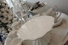 Tortenplatte Weiß Keramik Shabby Vintage Nostalgie Landhaus Brocante