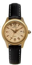 IBSO BOERNI  S3856L Water Resist Leather Strap Wrist Watch For Women, Black