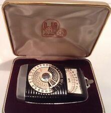 Vintage DeJUR Camera Light Meter With Case