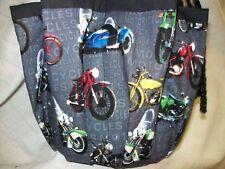 Assorted Motorcycles Print Cloth Bingo Bag Handmade