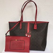 NWT Coach Pac-Man Reversible LIMITED EDITION City X-Large Tote With Pouch