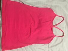 WOMENS LULULEMON POWER Y PINK TANK SIZE 8 Hot Pink Rare