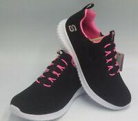 Girls' S Sport by Skechers Ada Sneakers-Black Shiny Glitter NIB Size 3