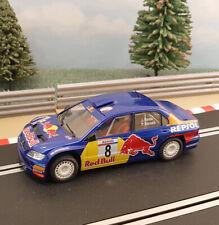 Ninco Runs On Scalextric 1:32 Car - Blue Mitsubishi Lancer Red Bull Roma #8