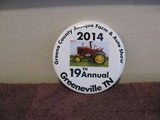"""""""2014"""" 19th Annual ~Greene County Antique Farm & Auto Show~ Pin Back Button"""