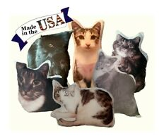 Custom Cat Photo Pillow, Personalized Cat Portrait Pillow, Cat Lover Gift