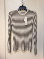 VINCE  PULLOVER THIN CASHMERE STRIPED SWEATER NWT SIZE S $265.00