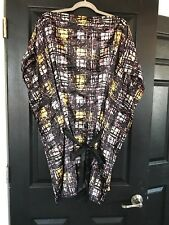 BCBG MAXAZARIA CAFTAN KIMONO PRINTED DRESS S SMALL $230 CAN FIT A MEDIUM   SFS