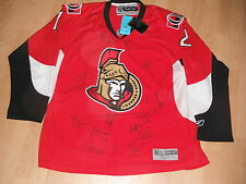 2016 OTTAWA SENATORS TEAM SIGNED JERSEY ERIK KARLSSON