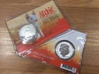 2017 Unc $1 Animal Zoo Archie Alpine Dingo 1oz Silver Coin On Card