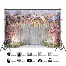 10x8ft Wedding Flowers Romantic Scene Backdrop Background Photography Props Show