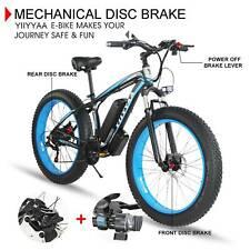 Fat Tire Snow Beach Electric Bike 26'' 36V Lithium Battery 21-Speed 500W E-Bike