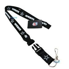 Cowboys Keychain Lanyard Detachable National Football League NFL Dallas Cowboys