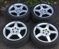 "MERCEDES CLK W209 AMG 18"" ALLOY WHEELS STAGGARD SET A1714011702 A1714011602"